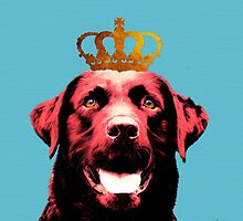 Dog with a crown. by MaxKirienko