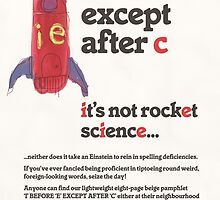 """""""I before E except after C,"""" 1977 by TVGC"""