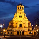 Cathedral church Saint Alexandar Nevsky in Sofia, Bulgaria by kirilart