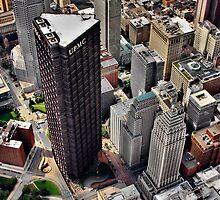Pittsburgh Aerial - Center City by shutterrudder