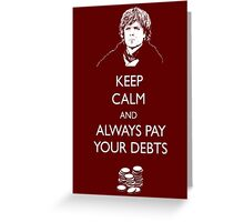Keep Calm Lannister Greeting Card