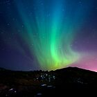Northern lights over Blue Mountain by johannesfrank