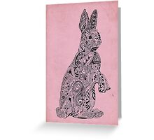 Rabbit_Pink Greeting Card