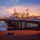 Brighton&#x27;s Palace Pier at Dusk by Chris Lord