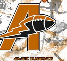 Almonte Thunderbolts Football iPhone Case by Mack8365