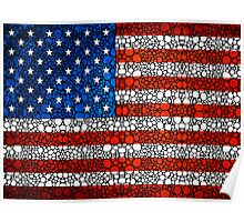 American Flag - USA Stone Rock'd Art United States Of America Poster