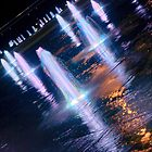 Manchester's Neon Fountains by Stephen Knowles