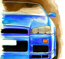 Nissan Skyline GTR R34  by AleczandraLee