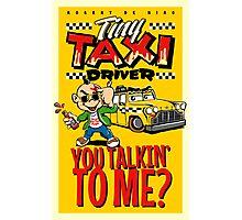 Tiny Taxi Driver Photographic Print