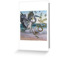"""Serpent and the Thistle""  Greeting Card"