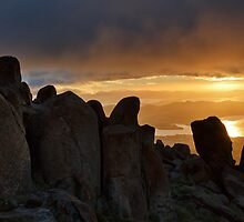 Sunrise from Mount Wellington #11 by Chris Cobern