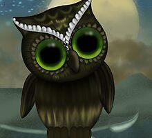 Cute Owl Birthday Greeting Card by Moonlake