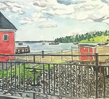 Lunenburg, Harbor, Nova Scotia by Caroline  Hajjar Duggan