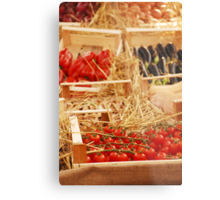 Box of Cherry Tomatoes in Fruit and Veg Display Metal Print