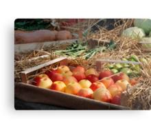 Box of Red Apples in Fruit and Veg Display Metal Print