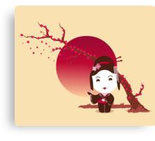 Cherry Blossom Girl Canvas Print