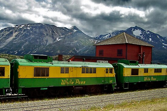 White Pass Yukon Railroad by Nancy Richard