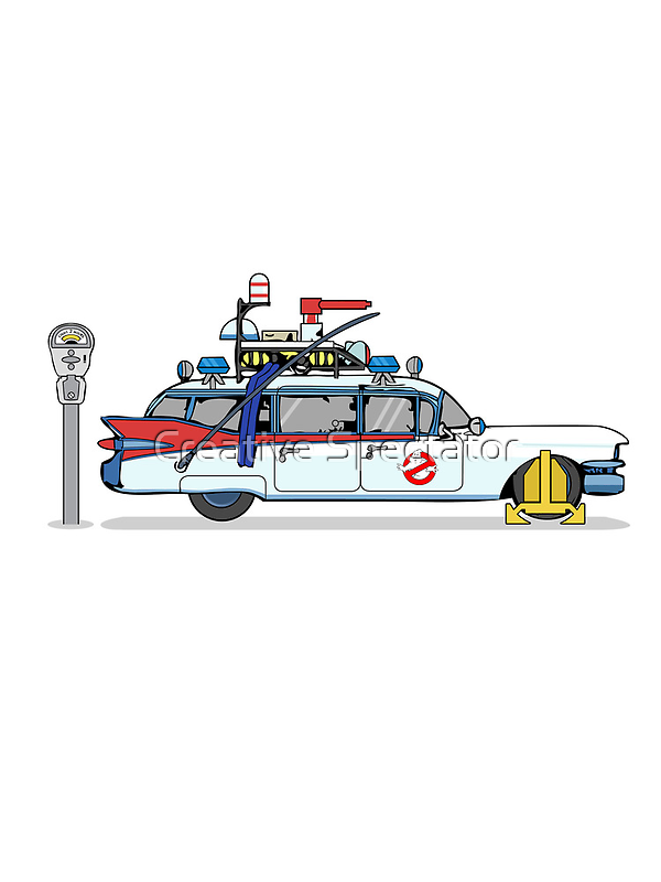 Ghostbusters Cadillac Wheel Clamp  by Creative Spectator