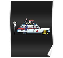 Ghostbusters Cadillac Wheel Clamp  Poster