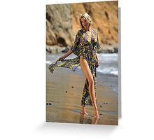 Sexy resort ware on location of CA coastline II Greeting Card