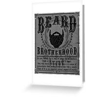 Beard Brotherhood B&W Greeting Card