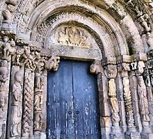 Doorway of a church (Bravaes) of the XI century  by vribeiro