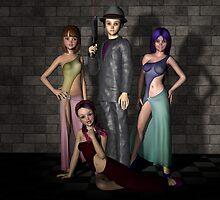 Azura, Carmina, Viridia and Greyson by Stephen Burke