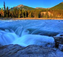 Athabasca Falls in Jasper National Park by pictureguy