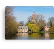 Minnewater in Bruges Belguim Canvas Print