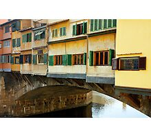 Ponte Vecchio detail in Florence Italy Photographic Print