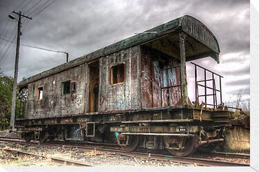 Almost end of the Line, Rail Carriage Harden NSW Australia  by Kym Bradley