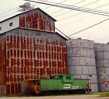 Grain Silos by CanoeComsArt