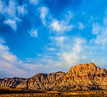 Red Rock Canyon - 'Neath a Blue, Blue Sky by Gregory J Summers