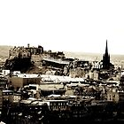 Edinburgh Castle and City by Talia Felix