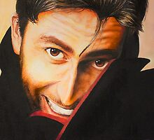 David Tennant Oil Painting by FluffyBusStudio