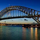 Sydney Harbour Bridge after Sunset by Chris  Randall
