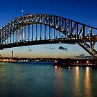 Sydney Harbour Bridge after Sunset by Chris  Randall