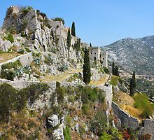 Fortress Klis near Split by kirilart