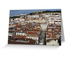 City view of Lisbon Greeting Card