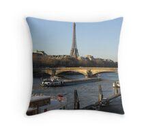 The River Seine in Paris Throw Pillow