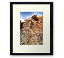 Texas Canyon Boulders Framed Print