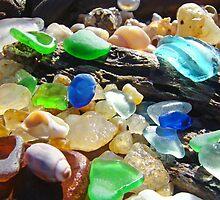 Seaglass Art Prints Coasta Beach Sea Glass by BasleeArtPrints