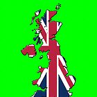 Iphone Case - Cool Britannia - Bright Green Background by Mark Podger