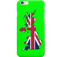 Smartphone Case - Cool Britannia - Bright Green Background iPhone Case/Skin