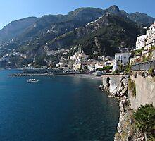 View of Amalfi coast by kirilart