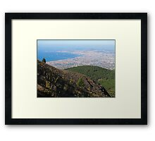 Naples Bay View from Mount Vesuvius Framed Print