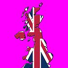 Smartphone Case - Cool Britannia - Shocking Pink Background by Mark Podger