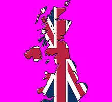 Iphone Case - Cool Britannia - Shocking Pink Background by Mark Podger