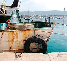 Rusted Fishing Trawler at Izola by jojobob