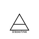 30 Seconds To Mars Triad iPhone Case by Pawsona
